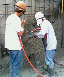 Applying Shotcrete - North County Gunite & Shotcrete